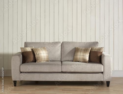 Super Modern Harris Tweed Sofa Chair And Cushion In Wainscot Machost Co Dining Chair Design Ideas Machostcouk