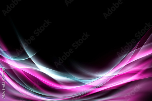 Naklejka na szybę Digital Background Awesome Abstract Light Wave Design