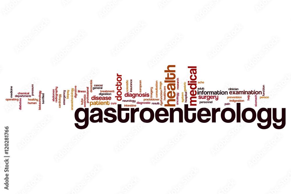 Fényképezés  Gastroenterology word cloud