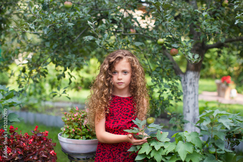 Fototapety, obrazy: Little girl with long hair