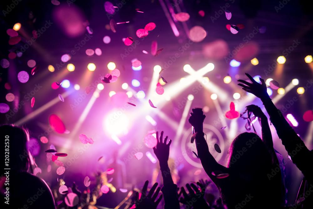 Fototapeta Confetti and party