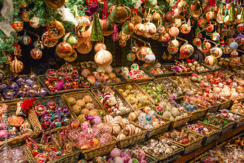 Christmas decorations in Wien Rathaus market