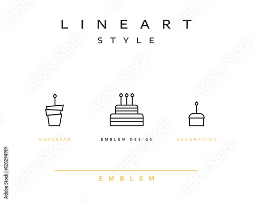 Peachy Cake Vector Icon Style Line Art Birthday Cake Cooking Pastries Funny Birthday Cards Online Overcheapnameinfo