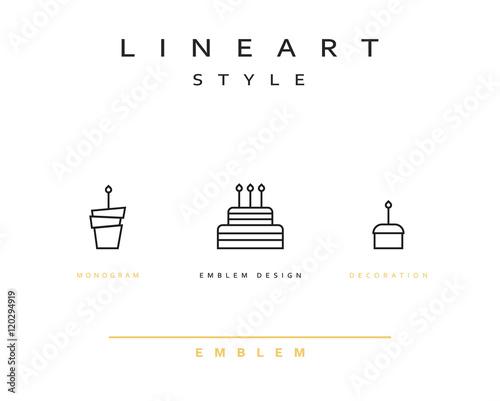 Stupendous Cake Vector Icon Style Line Art Birthday Cake Cooking Pastries Funny Birthday Cards Online Benoljebrpdamsfinfo