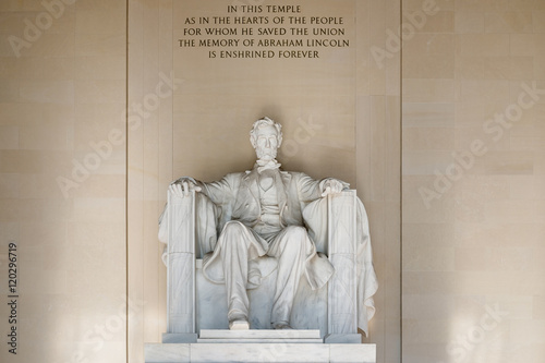 The Abraham Lincoln Statue at the Lincoln Memorial in Washington Poster