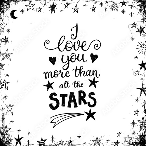 I love you more than all the stars Canvas-taulu