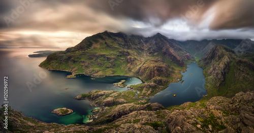 La pose en embrasure Ile Loch Coruisk