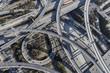 Los Angeles Freeway Interchange Aerial