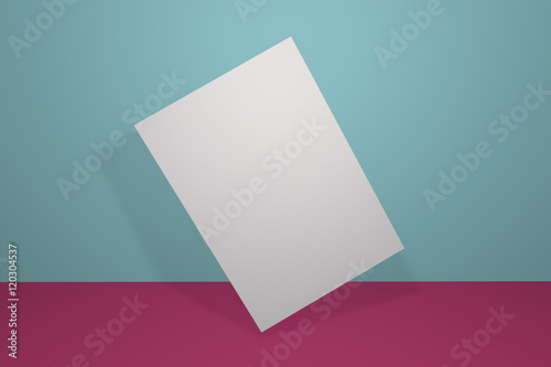 Mock Up Postcard And Cover Vertical Format The Front And
