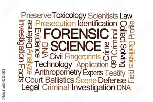 Fotografia, Obraz  Forensic Science Word Cloud