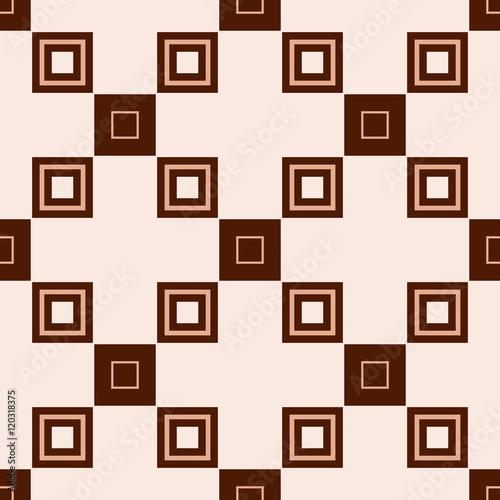 bez-szwu-geometryczny-wzor-kwadratowych-komorek-bezowy-pastelowy-ilustracji-wektorowych