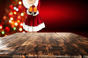 xmas table background place