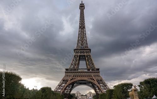 Foto  Eiffel Tower sunset views