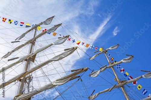 Fotografie, Obraz  Mast of tall ship in a sunny day