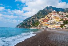 Positano Town On Amalfi Coast, Italy
