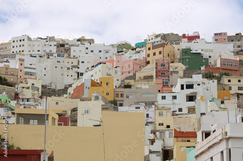 Poster Algérie Panoramic wiew of San Jose one of the oldest and populated districts in Las Palmas de Gran Canaria, Canary Islands, Spain.