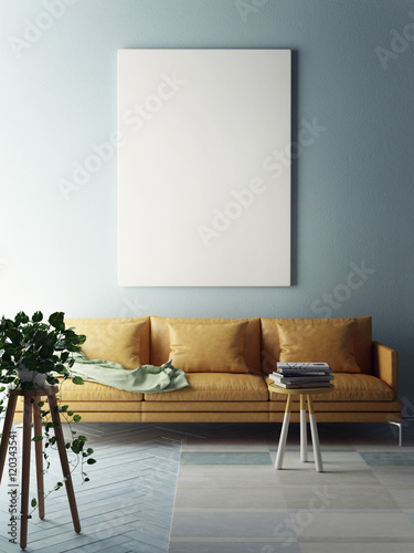 Fotografia, Obraz  Mock up poster, interior composition, 3d illustration