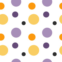Cute Colorful Seamless Vector Pattern Background Illustration With Circles