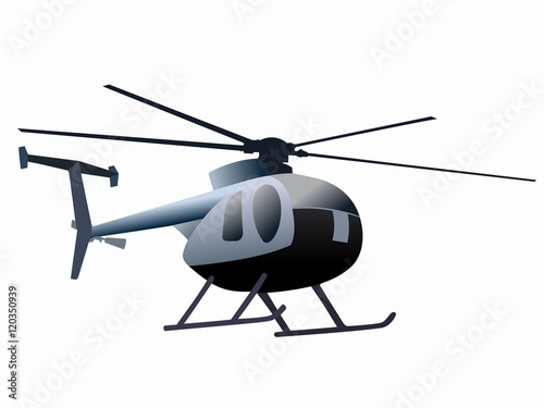 Poster Helicopter silhouette of helicopter. vector drawing