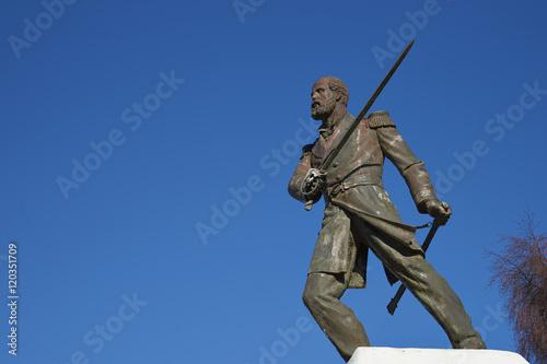 Statue of Arturo Prat in Punta Arenas, Chile Canvas Print