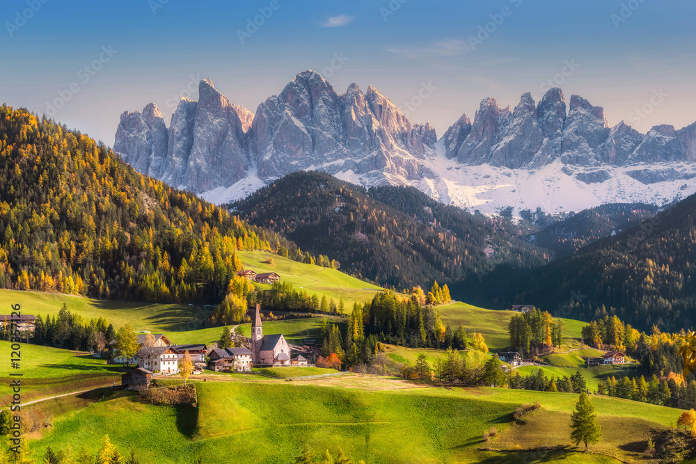 Fototapety, obrazy: Rural Landscape with Mountains