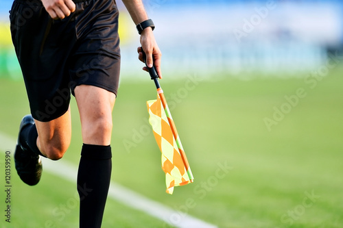 Photo Assistant referee during soccer match