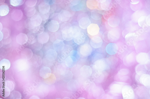 In de dag Lilac Blurred pale lilac and blue background with bokeh lights
