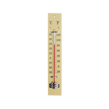 Wooden Thermometer Isolated On White