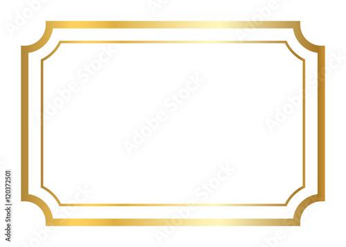 Gold frame. Beautiful simple golden design. Vintage style ...