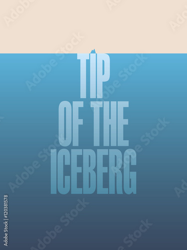 Tip of the iceberg illustration poster with text and quote Tablou Canvas
