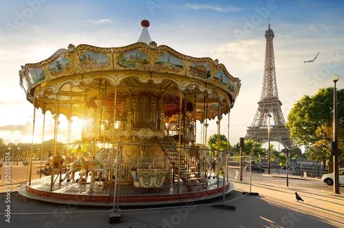 Poster Paris Carousel in Paris