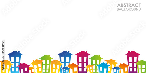 Obraz domy, mieszkania, nieruchomości, wieżowce,  - fototapety do salonu