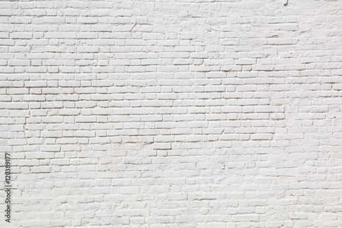 Foto op Aluminium Wand white brick wall