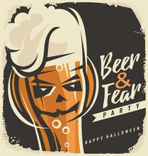 Halloween Party Invitation Design Concep