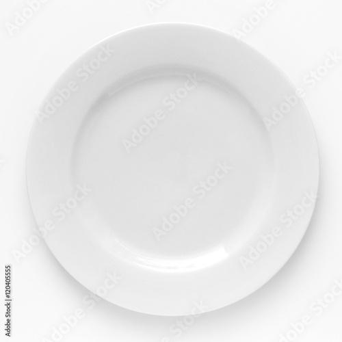 Foto  Grundlegende weiße Platte