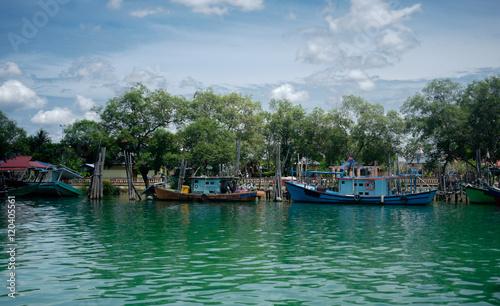 Foto op Plexiglas Cyprus Boats in Jetty. Mersing Malaysia