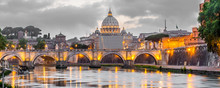 Rome And Vatican, Cityscape At...