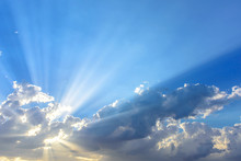Sun Beams Or Light Rays Breaki...