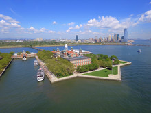 Aerial Photo Ellis Island New Jersey