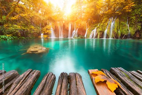 In de dag Watervallen Plitvice, Croatie