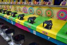 Water Gun Game At Amusement Park