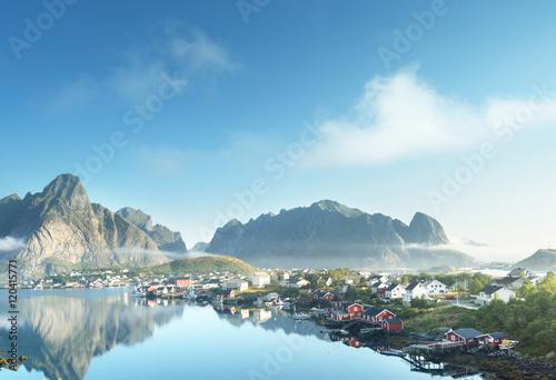 Garden Poster Scandinavia Reine Village, Lofoten Islands, Norway