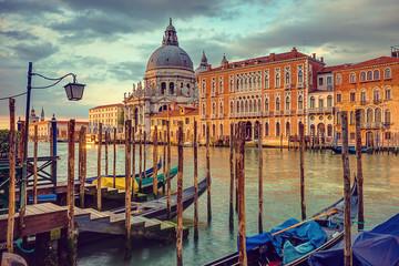 Panel Szklany Podświetlane Vintage Venice, Canal Grande, Vintage Stylized