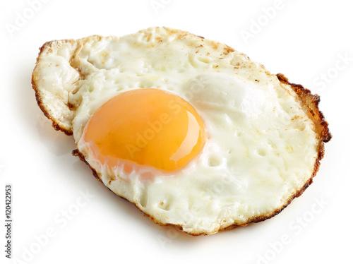 Deurstickers Gebakken Eieren fried egg on white background