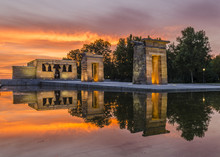 Egyptian Temple Debod In Madrid