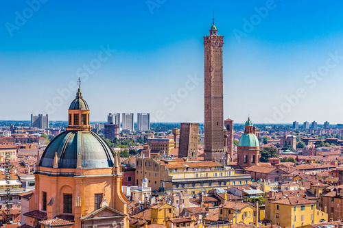 panoramic view of Bologna Canvas Print