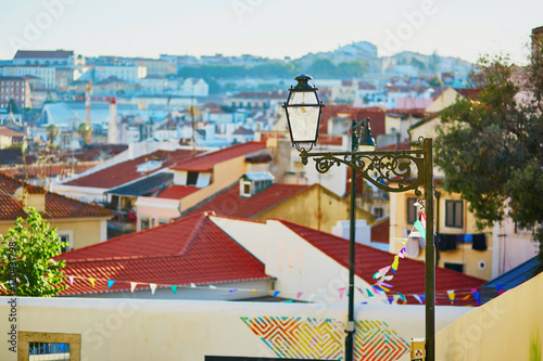 Fényképezés Aerial scenic view of central Lisbon