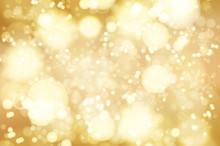 Vector Golden Bokeh Background...