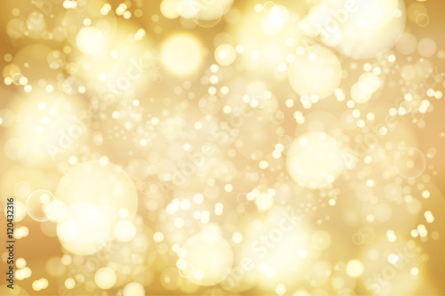 Fotografie, Obraz  Vector golden bokeh background. abstract defocused bright lights