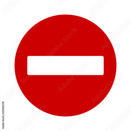 Fotografie, Obraz  No entry or do not enter restricted area sign / icon for apps and websites